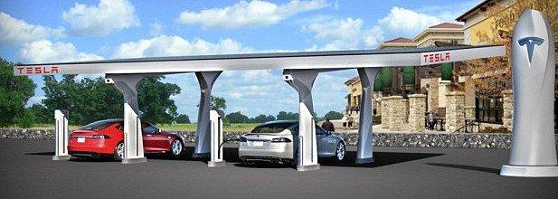 Зарядка автомобилей Tesla