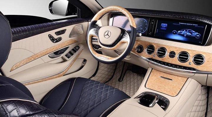 Тюнинг салона бронированного Mercedes S600 Guard от Topcar