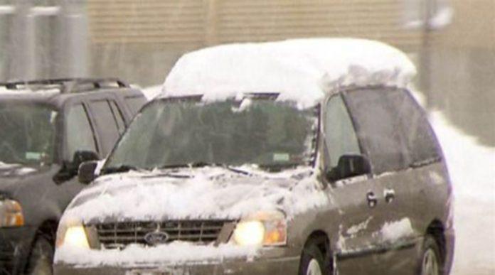 снег на авто
